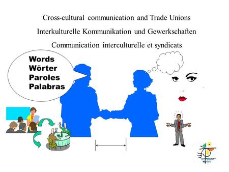 Words Wörter Paroles Palabras Cross-cultural communication and Trade Unions Interkulturelle Kommunikation und Gewerkschaften Communication interculturelle.