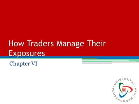 How Traders Manage Their Exposures Chapter VI. Delta.