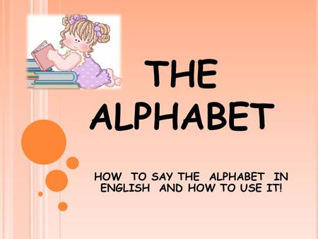 THE ALPHABET HOW TO SAY THE ALPHABET IN ENGLISH AND HOW TO USE IT!