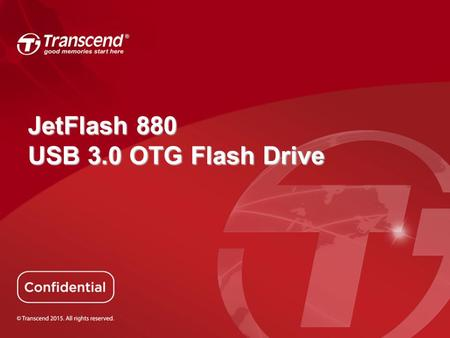 JetFlash 880 USB 3.0 OTG Flash Drive.