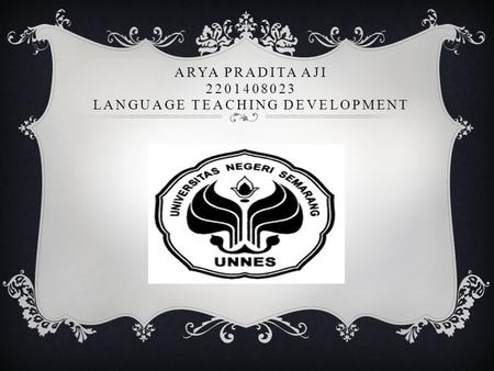Arya Pradita Aji Language Teaching Development
