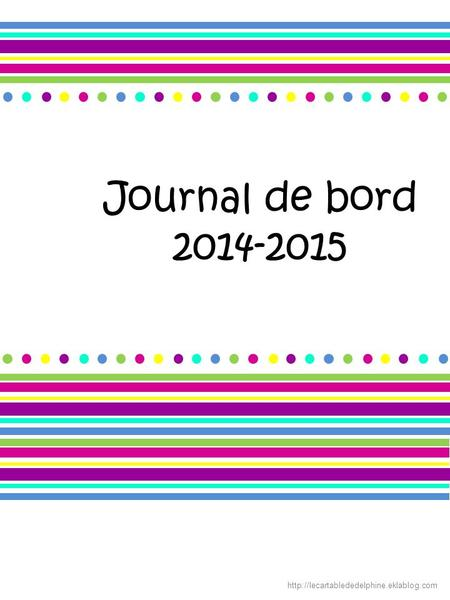 Journal de bord 2014-2015