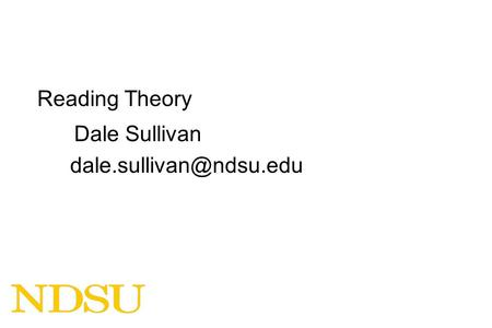 Reading Theory Dale Sullivan