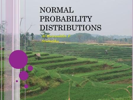 NORMAL PROBABILITY DISTRIBUTIONS Al Muizzuddin F Statistika.