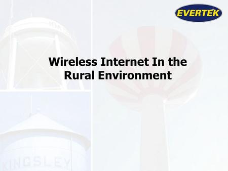 Wireless Internet In the Rural Environment. Began in 1905 as The Farmers Co-op Telephone Company. Began delivering wireless Cable TV over MMDS in 1989.