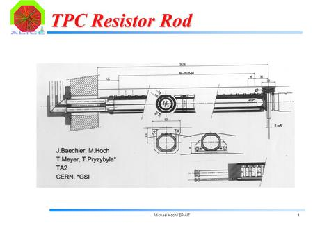 Michael Hoch / EP-AIT1 TPC Resistor Rod. Michael Hoch / EP-AIT2 Resistor Chain: Design Constrains  current per resistor chain: 241  A = 25W (total =