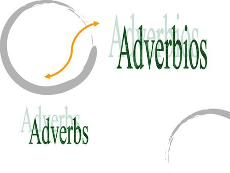 "Adverbs describe verbs. They tell how an action takes place. English adverbs ending in ""ly"" usually correspond to Spanish adverbs ending in ""mente""."
