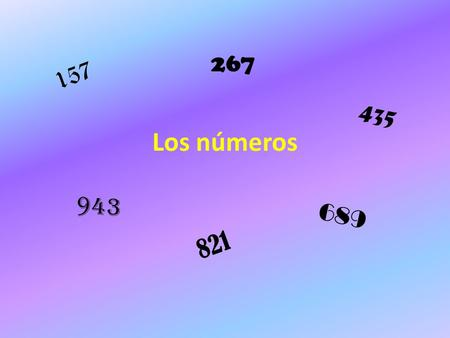 Los números 157 821 435 943 267 689. Los números de 200 a 1.000.000 Cien (Ciento) Doscientos (as) Trescientos (as) Cuatrocientos (as) Quinientos (as)