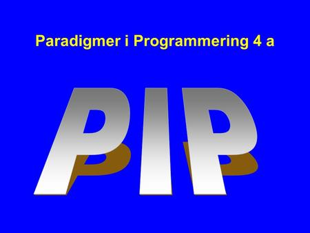 Paradigmer i Programmering 4 a. Java 1.5 -Generics -Autoboxing/unboxing -New for sætning -Static imports -enum.