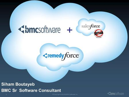 © Copyright 4/22/2015 BMC Software, Inc1 + Siham Boutayeb BMC Sr Software Consultant.