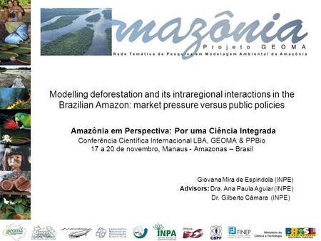 Modelling deforestation and its intraregional interactions in the Brazilian Amazon: market pressure versus public policies Amazônia em Perspectiva: Por.