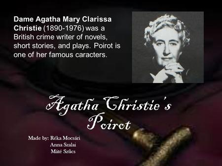 english extension crime speech agatha christie These vocabulary activities are designed to be taught in conjunction with reading witness for the prosecution by agatha christie speech provided students by.