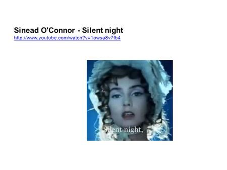 Sinead O'Connor - Silent night
