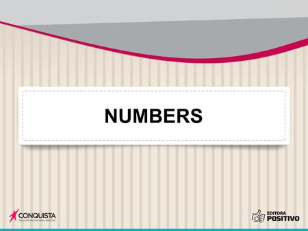 NUMBERS. 1 ONE Mariana T. Vilas Boas, 2013. Digital.
