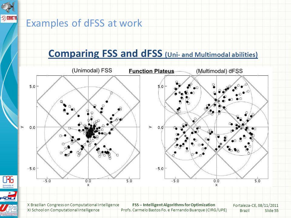 Multi-modal optimization (MMOP) 3D-Function: Plateus Examples of dFSS at work X Brazilian Congress on Computational Intelligence XI School on Computational Intelligence FSS – Intelligent Algorithms for Optimization Profs.