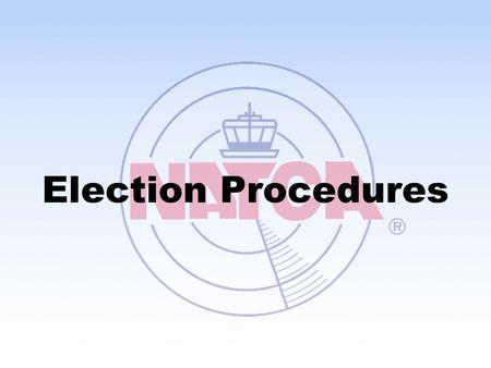 Election Procedures.