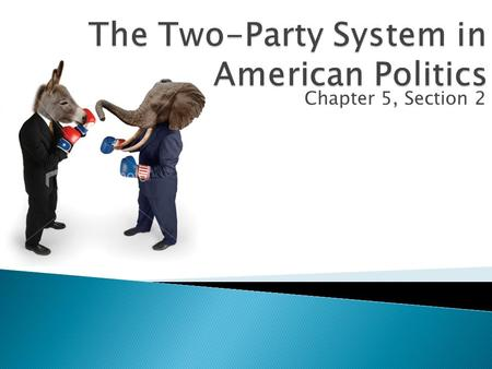 "Chapter 5, Section 2.  5 Functions of political parties: 1.Govern 2.Nominate candidates 3.""Inform and Activate"" 4.Create a ""Bonding Agent"" 5.Act as the."