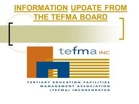 "INFORMATION UPDATE FROM THE TEFMA BOARD. INTRODUCTION Who is the ""Board"" and what do they do? TEFMA BOARD Elections Board Meeting Sunday 19/03/06 – Outcomes."