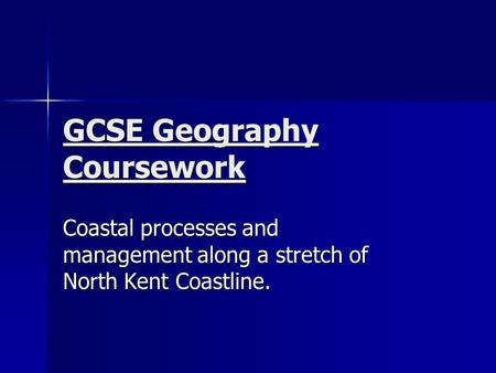 geography gcse coursework coasts