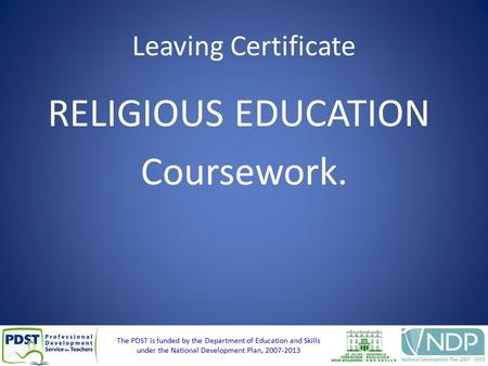 leaving cert religious education coursework 2013 What are the main topics/themes covered in the leaving cert  and by portfolio of coursework  students who take leaving certificate religious education can be.