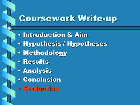 evaluation of osmosis coursework