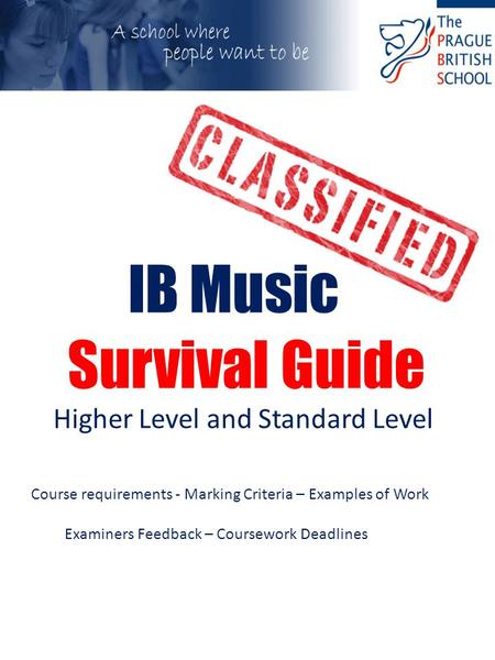 ib music coursework Music key words/ terminology with eal students in mind it is designed for igcse or ib students in  that s required as part of their coursework.