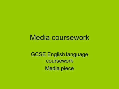 english coursework gcse help