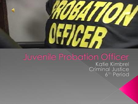 Chapter  Probation Officer Issues Introduction The Tasks Most