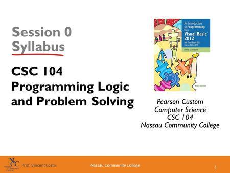 CGS 2167 Computer Applications Course Syllabus