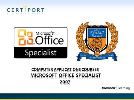 +. MICROSOFT OFFICE SPECIALIST (MOS) MOS 2007 continues the legacy of world's most recognized information worker certification program that accounts for.