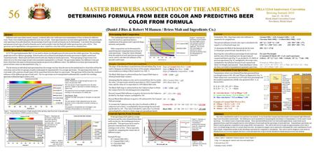 56 MASTER BREWERS ASSOCIATION OF THE AMERICAS MBAA 123rd Anniversary Convention Brewing Summit 2010 June 18 – 20, 2010 Rhode Island Convention Center Providence,