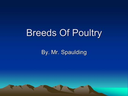 Breeds Of Poultry By. Mr. Spaulding Leghorn-Chickens Weights: 4 lbs. to 6 lbs. Egg Shell Color: White. Use: An egg-type chicken. Origin: city of Leghorn,