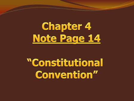 "Textbook Pages 146 – 147 ""Compromises"" Objectives:  I will be able to list two compromises that were passed in creating the Constitution.  I will be."
