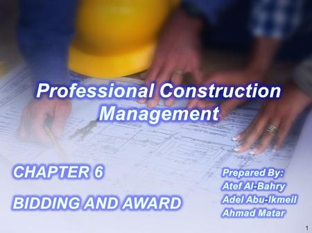 Professional Construction Management