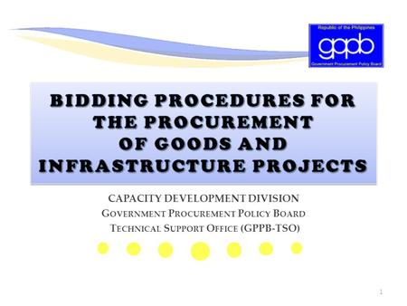 CAPACITY DEVELOPMENT DIVISION Government Procurement Policy Board