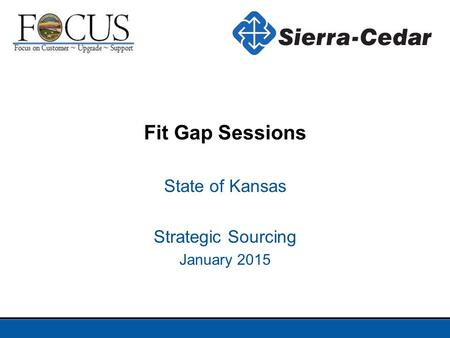 State of Kansas Strategic Sourcing January 2015