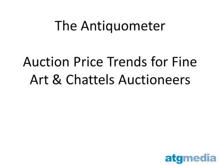 The Antiquometer Auction Price Trends for Fine Art & Chattels Auctioneers.