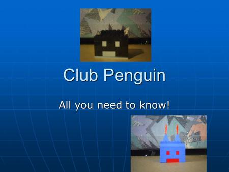 Club Penguin All you need to know!. Penguins Club Penguin is an award winning game made by Miniclip games. Club Penguin is an award winning game made.