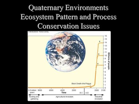Quaternary Environments Ecosystem Pattern and Process Conservation Issues.