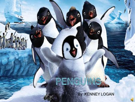 Penguins By: KENNEY LOGAN.