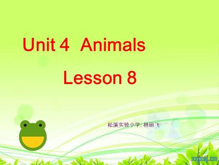 Unit 4 Animals Lesson 8 松溪实验小学 : 林丽飞 tiger bat.