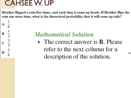CAHSEE W. UP GEOMTRY GAME PLAN Date9/24/13 Tuesday Section / TopicNotes #19: 2.2 Definitions & Biconditional Statements Lesson GoalSTUDENTS WILL BE ABLE.