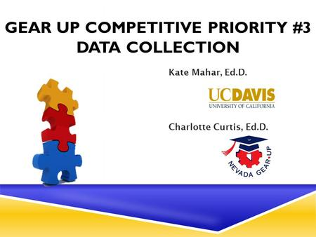GEAR UP COMPETITIVE PRIORITY #3 DATA COLLECTION Kate Mahar, Ed.D. Charlotte Curtis, Ed.D.