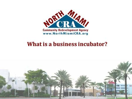 What is a business incubator?. It is a business that provides advice, equipment, temporary premises, or other facilities to those starting up a business.