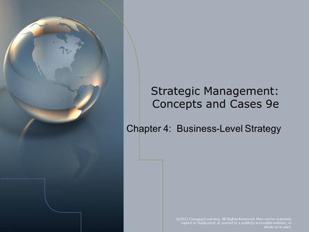 Strategic Management: Concepts and Cases 9e