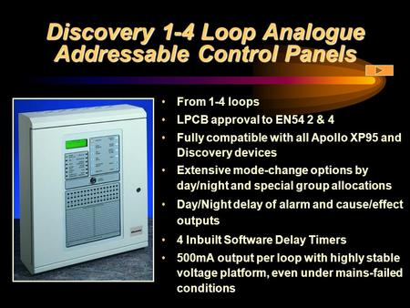 Discovery 1-4 Loop Analogue Addressable Control Panels