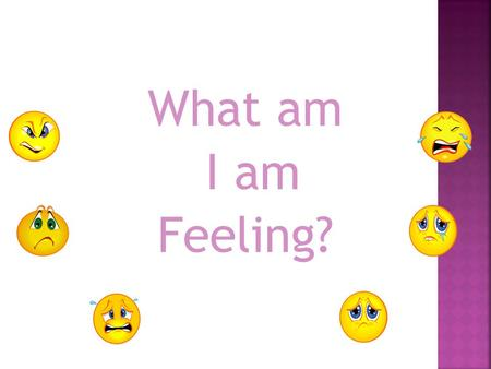 What am I am Feeling?.  Vocabulary Overview  Vocabulary Review Game  Vocabulary Practice.