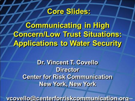 Center for Risk Communication