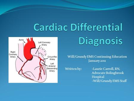 Cardiac Differential Diagnosis