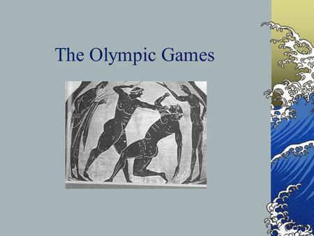 The Olympic Games. Epictetus on the Ancient Olympic Spectator Aren't you devoured by the fierce heat? Aren't you smashed in the crowd? Aren't you upset.